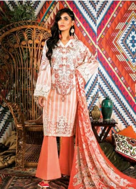 Sapphire Embroidered Cotton Unstitched 2 Piece Suit Uzbek Journey A - Autumn - Fall Collection
