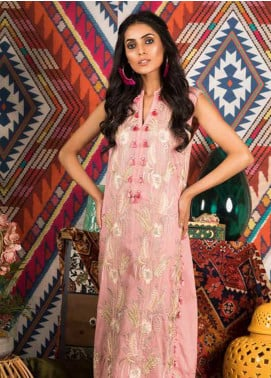 Sapphire Embroidered Cotton Unstitched Kurties Verve A - Autumn - Fall Collection