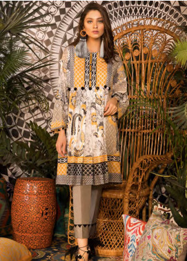 Sapphire Printed Cotton Unstitched Kurties Vibes A - Autumn - Fall Collection