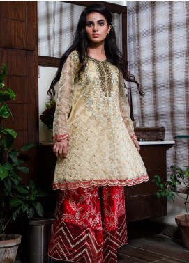 Spade Embroidered Organza Stitched 2 Piece Suit C4CRO-0