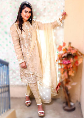 Spade Embroidered Cotton Stitched 3 Piece Suit C6GCZB2P15B