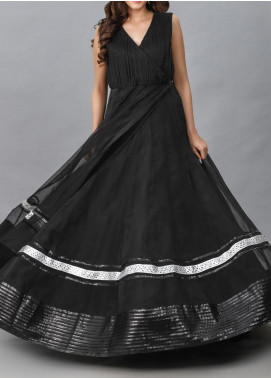 Spotlight Embroidered Organza Stitched Frock ONYX ELEGANCE