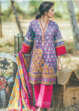 Al Karam Embroidered Lawn Unstitched 3 Piece Suit SS-104B - Spring / Summer Collection