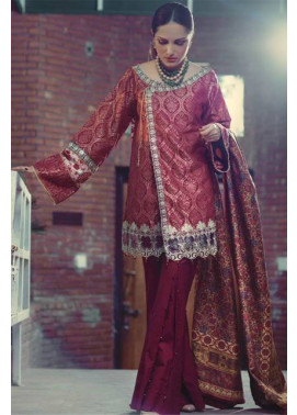 Saira Rizwan Embroidered Karandi Unstitched 3 Piece Suit SR16W 05