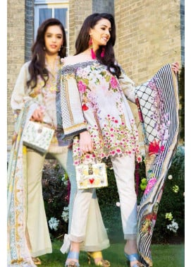 Saira Rizwan Embroidered Lawn Unstitched 3 Piece Suit SR17L 01