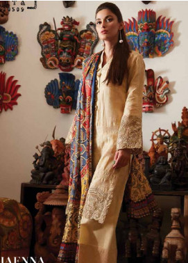 Saira Rizwan Embroidered Lawn Unstitched 3 Piece Suit SR18L 08 - Spring / Summer Collection