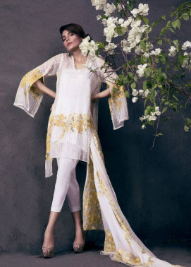 Sana Safinaz Embroidered Chiffon Unstitched 3 Piece Suit SS17L 1B