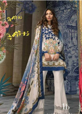 Sana Safinaz Embroidered Chiffon Unstitched 3 Piece Suit SS18C 1B - Silk Chiffon Collection