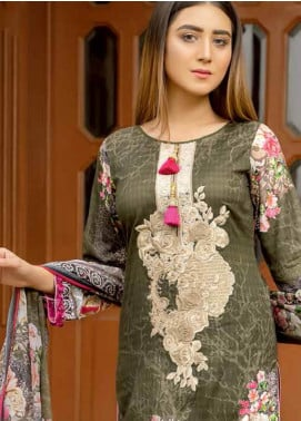 Star Embroidered Lawn Unstitched 3 Piece Suit STR19E 113B - Eid Collection