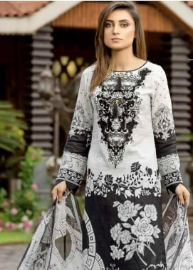 Star Embroidered Lawn Unstitched 3 Piece Suit STR19E 114A - Eid Collection