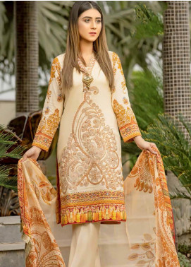 Star Embroidered Lawn Unstitched 3 Piece Suit STR19E 118B - Eid Collection