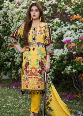 Subata by Regalia Textiles Embroidered Lawn Unstitched 3 Piece Suit SBR19F 4A - Festive Collection