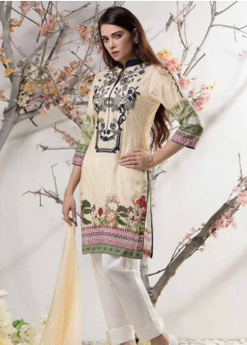 Subata By Regalia Textiles Chikan Kari Embroidered Lawn Unstitched 3 Piece Suit SBR18CK 08 - Mid Summer Collection