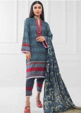 Subhata by Regalia Textiles Printed Lawn Unstitched 3 Piece Suit RG20SH SUBHATA-02 - Spring / Summer Collection