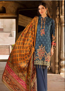 Al Zohaib Embroidered Cotton Silk Unstitched 3 Piece Suit AZ18CS 01 - Premium Collection
