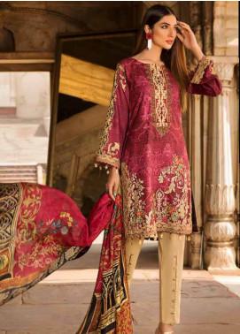 Al Zohaib Embroidered Cotton Silk Unstitched 3 Piece Suit AZ18CS 03 - Premium Collection