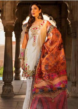 Al Zohaib Embroidered Cotton Silk Unstitched 3 Piece Suit AZ18CS 07 - Premium Collection