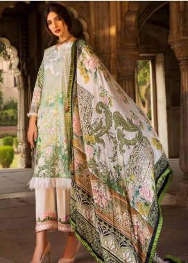 Al Zohaib Embroidered Cotton Silk Unstitched 3 Piece Suit AZ18CS 10 - Premium Collection