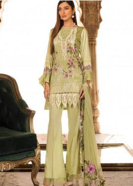 Al Zohaib Embroidered Cotton Silk Unstitched 3 Piece Suit AZ18CS 2A - Premium Collection