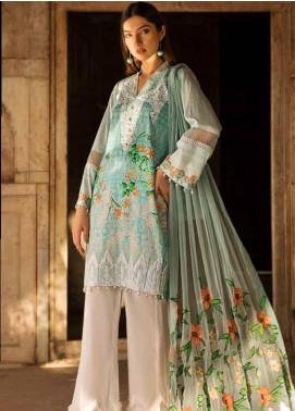 Al Zohaib Embroidered Cotton Silk Unstitched 3 Piece Suit AZ18CS 2B - Premium Collection