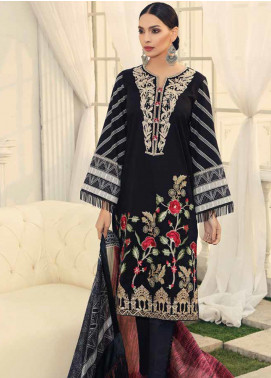 Al Zohaib Embroidered Cotton Silk Unstitched 3 Piece Suit AZ19CS 1 - Luxury Collection