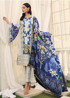 Al Zohaib Embroidered Cotton Silk Unstitched 3 Piece Suit AZ19CS 2 - Luxury Collection