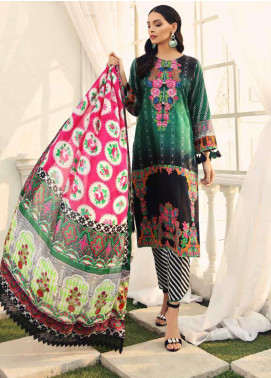 Al Zohaib Embroidered Cotton Silk Unstitched 3 Piece Suit AZ19CS 3 - Luxury Collection