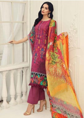 Al Zohaib Embroidered Cotton Silk Unstitched 3 Piece Suit AZ19CS 7 - Luxury Collection