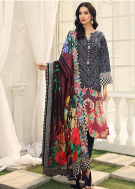 Al Zohaib Embroidered Cotton Silk Unstitched 3 Piece Suit AZ19CS 8 - Luxury Collection
