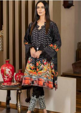 Al Zohaib Printed Cotton Satin Unstitched Kurties AZ19SB K 02 - Luxury Collection