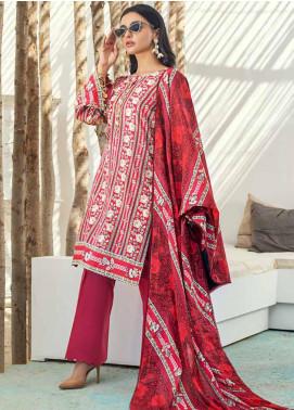 Al Zohaib Printed Cotton Satin Unstitched 3 Piece Suit AZ19SB P 04 - Luxury Collection