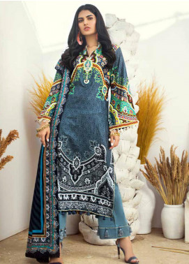 Al Zohaib Printed Cotton Satin Unstitched 3 Piece Suit AZ19SB P 08 - Luxury Collection