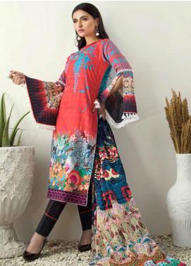 Al Zohaib Printed Cotton Satin Unstitched 3 Piece Suit AZ19SB P 11 - Luxury Collection