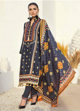 Al Zohaib Printed Cotton Satin Unstitched 3 Piece Suit AZ19SB P 12 - Luxury Collection