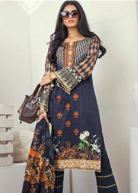 Al Zohaib Printed Cotton Satin Unstitched 3 Piece Suit AZ19SB P 14 - Luxury Collection