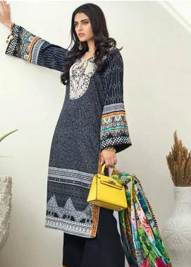Al Zohaib Printed Cotton Satin Unstitched 3 Piece Suit AZ19SB P 16 - Luxury Collection