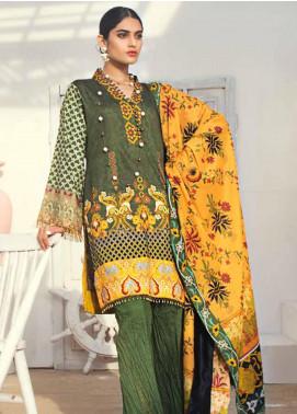 Al Zohaib Printed Cotton Satin Unstitched 3 Piece Suit AZ19SB P 17 - Luxury Collection