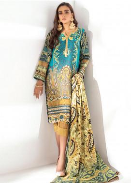 Sunshine Bloom by Al Zohaib Printed Cotton Satin Unstitched 3 Piece Suit AZ20SB 03 - Formal Collection