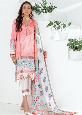 Sunshine Bloom by Al Zohaib Printed Cotton Satin Unstitched 3 Piece Suit AZ20SB 04 - Formal Collection