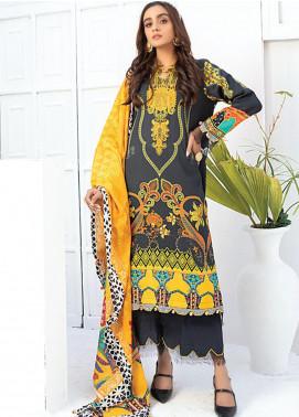 Sunshine Bloom by Al Zohaib Printed Cotton Satin Unstitched 3 Piece Suit AZ20SB 05 - Formal Collection