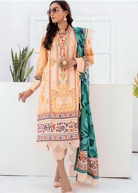 Sunshine Bloom by Al Zohaib Printed Cotton Satin Unstitched 3 Piece Suit AZ20SB 06 - Formal Collection