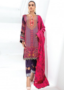Sunshine Bloom by Al Zohaib Printed Cotton Satin Unstitched 3 Piece Suit AZ20SB 07 - Formal Collection