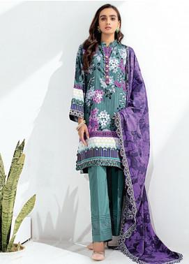 Sunshine Bloom by Al Zohaib Printed Cotton Satin Unstitched 3 Piece Suit AZ20SB 09 - Formal Collection