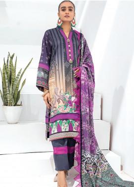 Sunshine Bloom by Al Zohaib Printed Cotton Satin Unstitched 3 Piece Suit AZ20SB 11 - Formal Collection