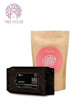 Coffee Scrub (Strawberry Flavour)+Cleansing Makeup Wipes (Promo Pack)