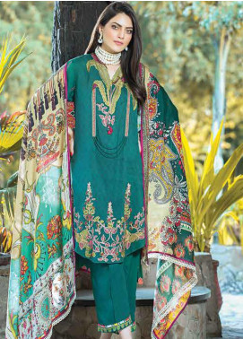 Takhleek By Hijab Omer Embroidered Linen Unstitched 3 Piece Suit TK19W 10B AKS - Winter Collection