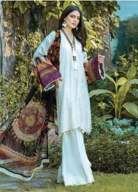 Takhleek By Hijab Omer Embroidered Linen Unstitched 3 Piece Suit TK19W 1A FAQAT - Winter Collection