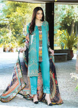 Takhleek By Hijab Omer Embroidered Linen Unstitched 3 Piece Suit TK19W 1B FAQAT - Winter Collection