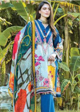 Takhleek By Hijab Omer Embroidered Linen Unstitched 3 Piece Suit TK19W 2A AZAAD - Winter Collection