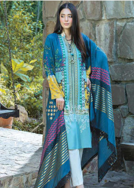 Takhleek By Hijab Omer Embroidered Linen Unstitched 3 Piece Suit TK19W 3B CHAAP - Winter Collection